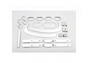 Interior Trim Accent Kit Brushed Silver 07-10 Jeep