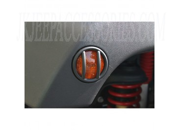 Side Marker Light Euro Guards Black