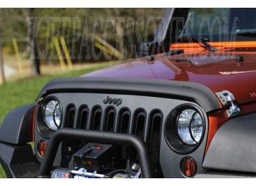 This Matte Black Acrylic Bug Deflector From Rugged Ridge Fits On The
