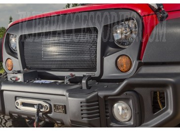 Spartan Angry Grille Red Jeep JK Side