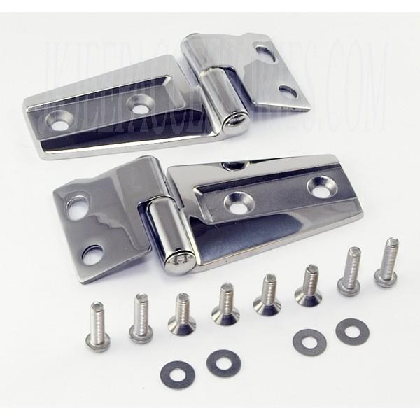 Jeep Wrangler Hood Hinge Kit Stainless Steel 2007-2013 By
