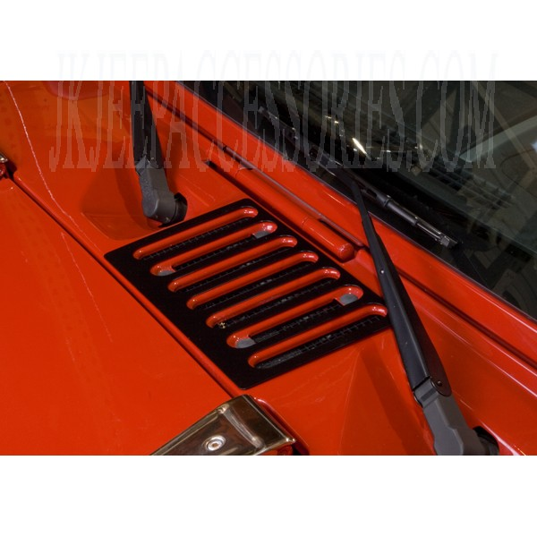 Jeep wrangler cowl vent cover black  by rugged ridge