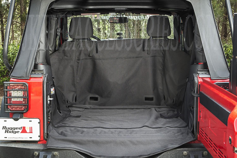 C3 Cargo Cover 2 Door W O Subwoofer 07 16 Jeep Wrangler Jk