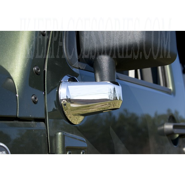 Jeep Wrangler Mirror Arm Covers Chrome 2007 2013 By Rugged