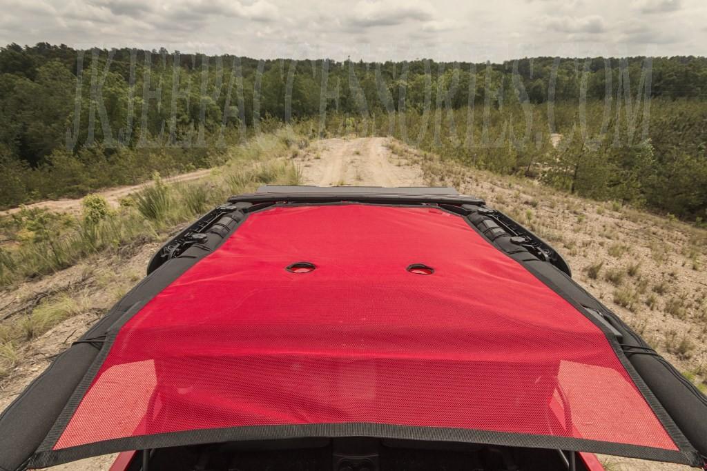 Eclipse Sun Shade Red 07 15 Jeep Wrangler Jk 2 Door