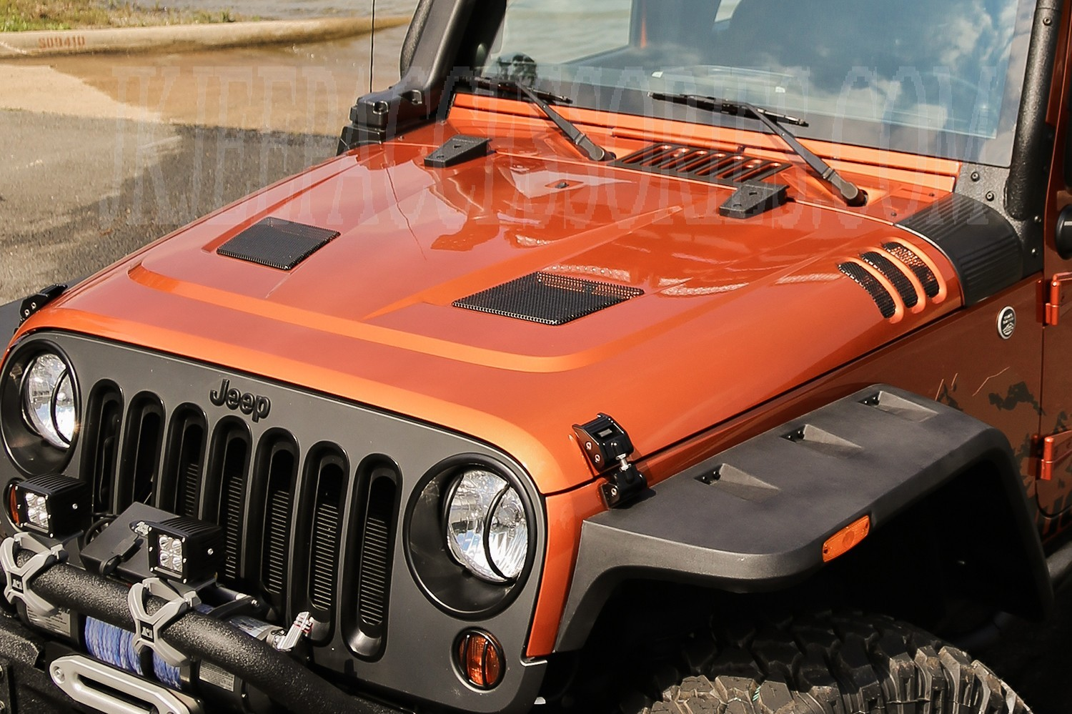 This Performance Vented Hood Fits 07 14 Jeep Wrangler Release