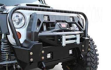 2007 2014 Jeep Jk Fmj Stubby Winch Bumper With Grill Guard