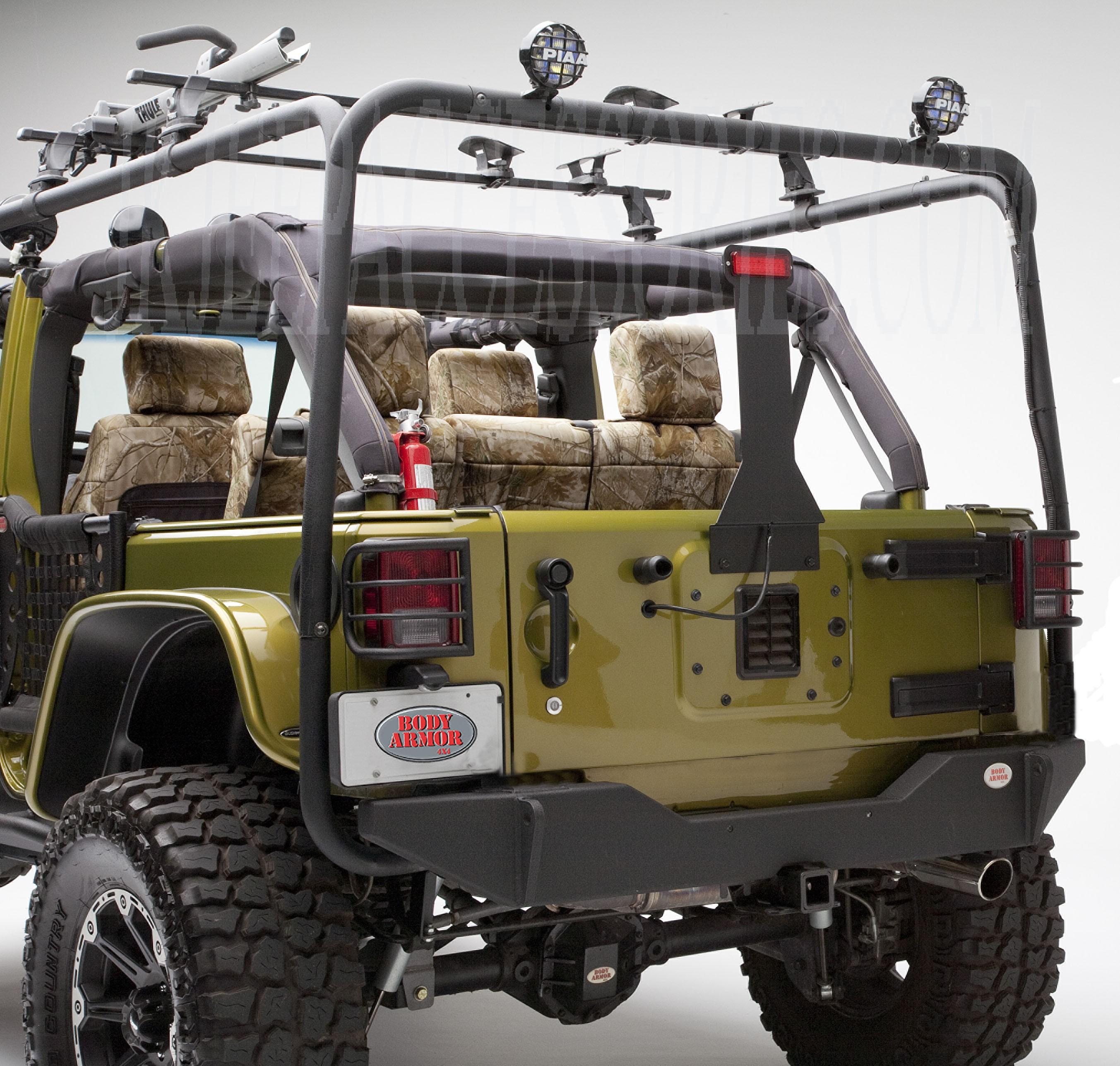 Body Armor Rear Base Bumper Based On JK-2394 Style