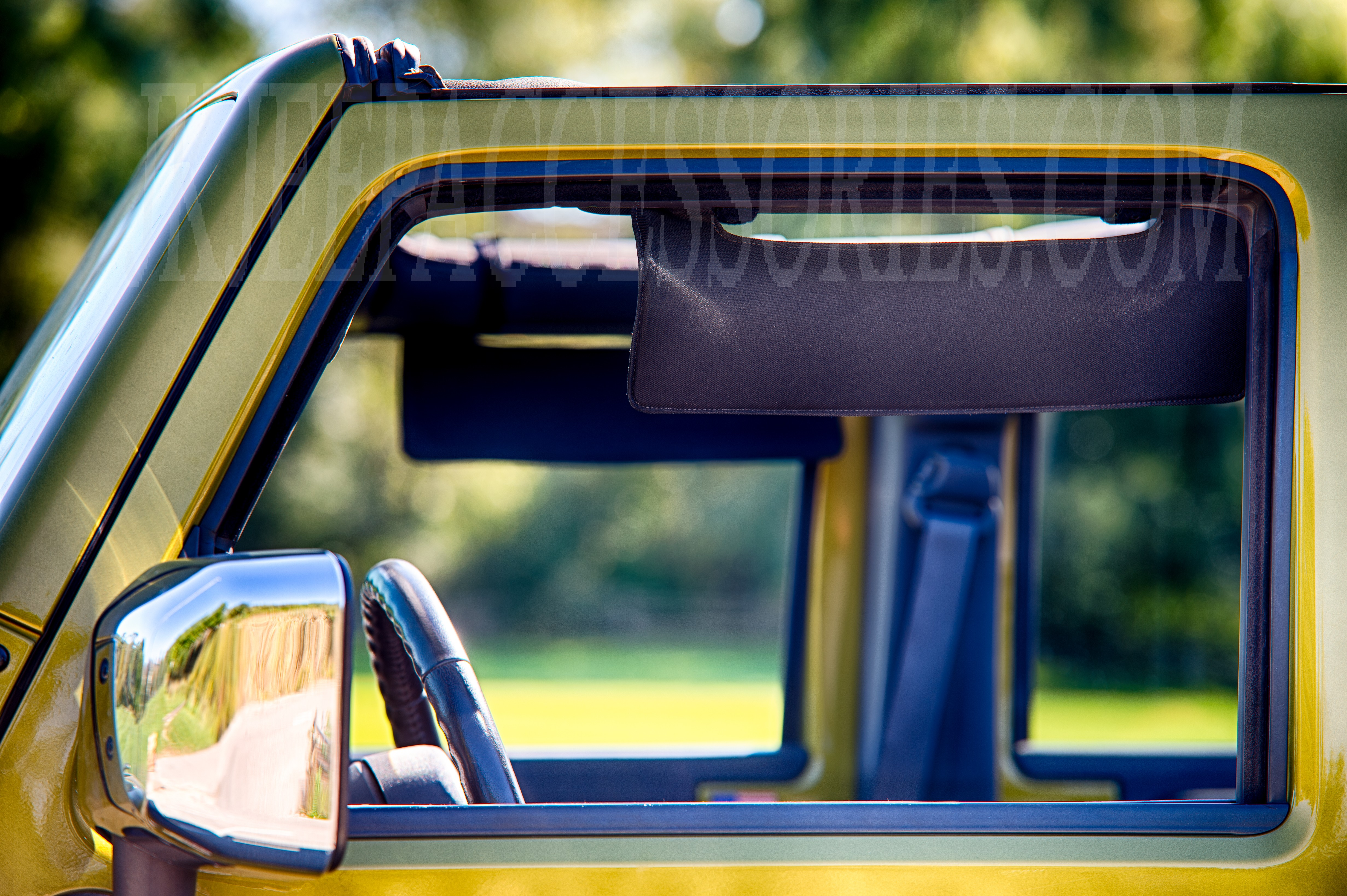Jeep Side Window Visor Black Eklps 5201