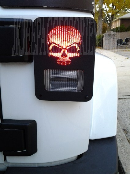 Skull Jeep Wrangler Jk Tail Light Guard