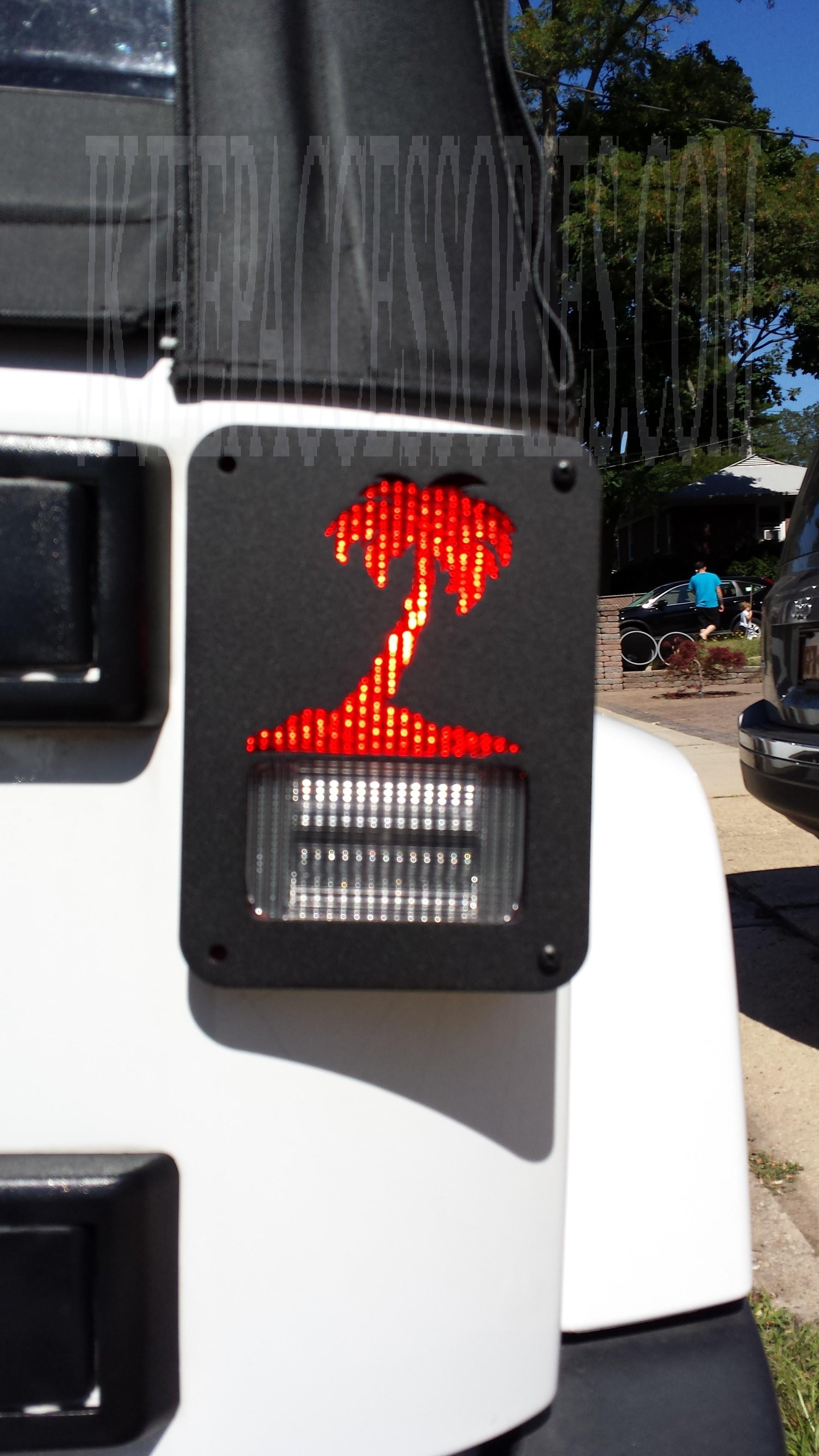Palm Tree Jeep Wrangler Jk Tail Light Guard