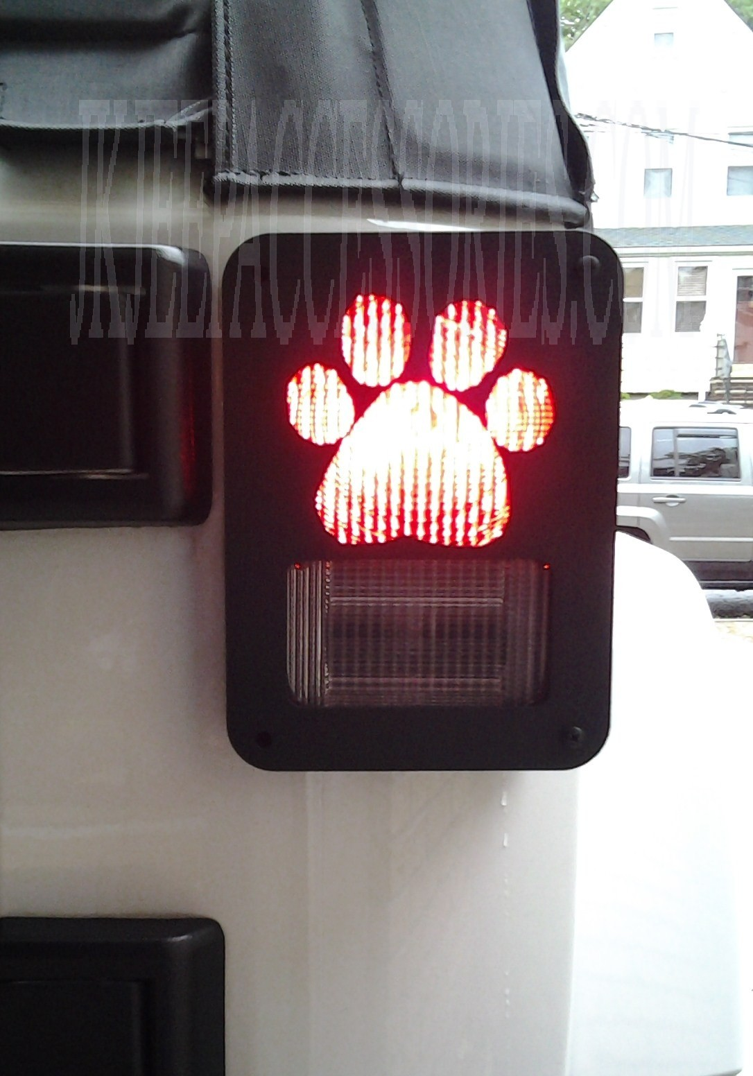 Paw Print Jeep Wrangler Jk Tail Light Guard