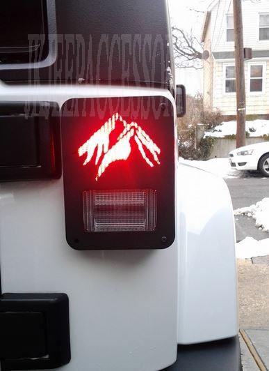 All Black Jeep >> CUSTOMJEEP WRANGLER JK TAIL LIGHT GUARD