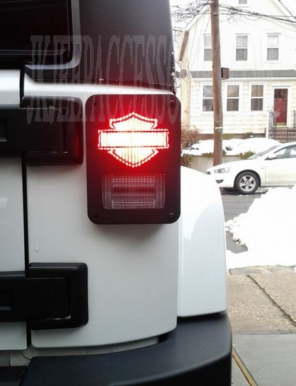 Jeep Matte Black >> CUSTOMJEEP WRANGLER JK TAIL LIGHT GUARD