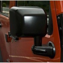 Door Mirror, Black, Right Side, 07-15 Jeep Wrangler (JK)