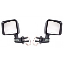 Door Mirror Kit with Turn Signals Black 07-17 Jeep Wrangler (JK)