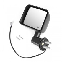 Heated Power Mirror, Left, Black, 11-15 Jeep Wrangler (JK)