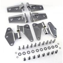 Door Hinge Kit Stainless Steel 07-16 Jeep Wrangler (JK)