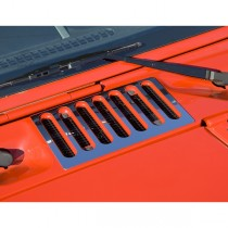 Cowl Vent Cover Stainless Steel 07-17 Jeep Wrangler (JK)