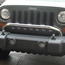 Bumper Mounted Light Bar Stainless Steel 07-16 Jeep Wrangler (JK)