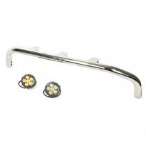 Bumper Mounted Light Bar Kit Stainless Steel Round 07-17 Wrangler