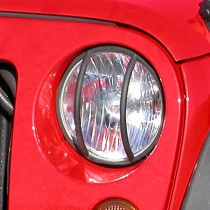 Headlight Euro Guards Black 07-17 Jeep Wrangler