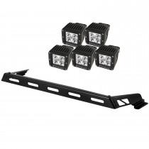 Hood Light Bar Kit, 5 Cube LED Lights