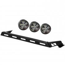Hood Light Bar Kit, 3 Round LED Lights