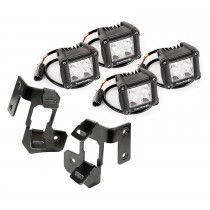 A-Pillar Light Mount Kit Black Dual Cube 07-17 Jeep Wrangler JK
