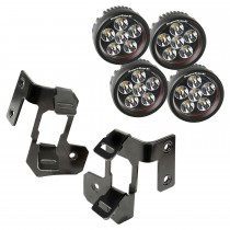 A-Pillar Light Mount Kit, Semi-Gloss Black, Round LED, 07-15 Wrangler