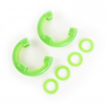 D-Ring Isolator Kit  Green Pair  7/8-Inch