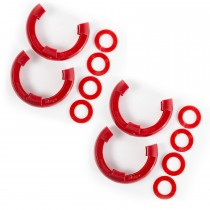 D-Ring Isolator Kit  Red 2-Pair  3/4-Inch