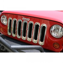Grille Inserts Chrome 07-17 Jeep Wrangler