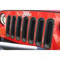 Grille Inserts Black 07-17 Jeep Wrangler