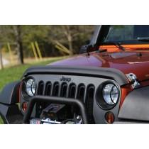 Bug Deflector Matte Black 07-17 Jeep Wrangler