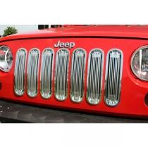 Billet Grille Insert Polished Aluminum 07-17 Jeep Wrangler