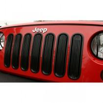 Billet Grille Insert Black 07-17 Jeep Wrangler
