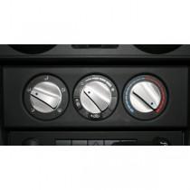 3-Piece Aluminum Climate Control Knob Set Blue 07-10 Jeep JK Wrangler