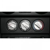 3-Piece Aluminum Climate Control Knob Set Red 07-10 Jeep JK Wrangler
