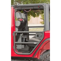 Rear Tube Doors Textured Black 07-17 Jeep Wrangler Unlimited (JK)