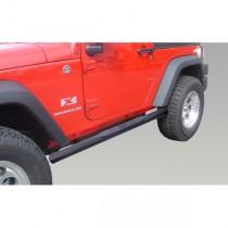 4 1/4-inch Oval Tube Side Steps Black 07-17 Jeep Wrangler (JK)