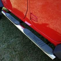 4 1/4-inch Oval Side Steps Stainless Steel 07-17 Jeep Wrangler (JK)