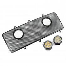 Grille Insert Kit With Dual 3.5 Inch LEDs 07 16 Jeep Wrangler JKJKU
