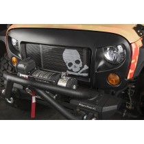 Spartan Grille Kit, Skull; 07-16 Jeep Wrangler JK