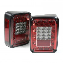 Led Tail Light Set Smoke 07-15 Jeep Wrangler
