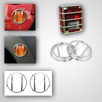 10-Piece Euro Guard Light Kit Stainless 07-17 Jeep Wrangler