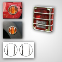 8-Piece Euro Guard Light Kit Stainless Steel 07-17 Jeep Wrangler