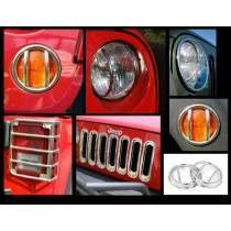 19-Piece Euro Guard Light Kit Stainless 07-17 Jeep Wrangler