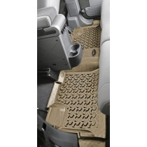 Floor Liners Rear Black 07-17 Jeep Wrangler Unlimited (JK)