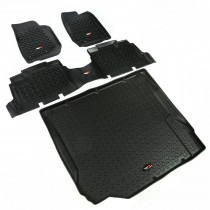 Floor Liner Kit, Black, 07-10 Jeep 4-Door Wrangler